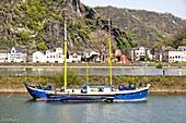 Rhine River, Upper Middle Rhine Valley, Rhineland-Palatinate, Germany