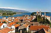 Rooftop view over Rab Town, Kvarner Gulf, Croatia, Europe