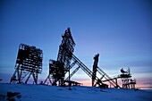 shut down radar monitoring system from the Cold War at Uelkal, Chukotka Autonomous Okrug, Siberia, Russia