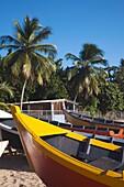 Puerto Rico, West Coast, Aguadilla, Crashboat Beach, lifeboats.
