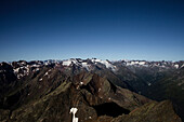 View from the summit of Habicht to the south-west, Habicht (3277 m), Stubai Alps, Tyrol, Austria