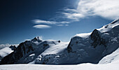 Glacier at Mont Blanc, Mont Blanc Mountain Massif, Graian Alps, France