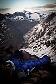 Bivouac, near Saykogel (3355 m), Ötztal Alps, Tyrol, Austria