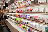 Florida, Miami Beach, Collins Avenue, Sephora, shopping, cosmetics, perfumes, retail display, packaging, competing brands, for sale, shelves,