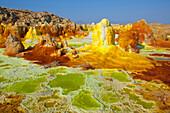 Dallol, Africa, Ethiopia, Afar region, Afgar, Danakil, desert, volcano lake, acid volcano, depositions, minerals, colors, forms, shapes,