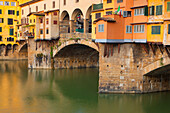 Florence, Ponte Vecchio, Italy, Europe, Tuscany, town, city, river, flow, Arno, bridge, window