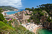 Spain, Europe, Girona Province, Costa Brava, Coast, Tossa de Mar, blue, water, sea, travel, tourism, castle, colourful, Costa Brava, landscape, old town, touristic