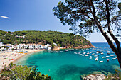 Spain, Europe, Girona Province, Costa Brava, Tamarriu City, beach, blue, water, sea, travel, tourism, boats, colourful, Costa Brava, landscape, old town, rock, touristic, tourists, vacation