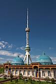 Tashkent, City, Tashkent, TV, television, Uzbekistan, Central Asia, Asia, architecture, blue, communication, domes, observatory, park, skyline, tall, television, touristic, tower, travel