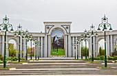 Ashgabat, City, Turkmenistan, Central Asia, Asia, architecture, city, downtown, lamps, monument, new, president, street lights, touristic, travel