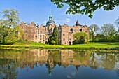 Bueckeburg Castle and lake, Lower Saxony, Germany, Europe