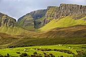 Quiraing. Trotternish peninsula. Isle of Skye. Scotland. Great Britain.