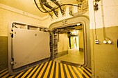 Europe, Germany, Rhineland, area of Bonn, district of Ahrweiler, Bad Neuenahr, Regierungsbunker, secret bunker buit by the Government of Bonn as an emergency site of the Costitutional Organs of the Federal Republic of Germany, a huge armoured door