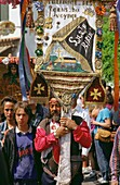 Saintes Maries de la Mer  Camargue  France  The annual Gypsy Pilgrimage  Pelerinage des Gitans  Each May & October Gypsies from all over Europe travel to the small seaside town of Saintes Maries de la Mer to honour their patron saint, Sarah