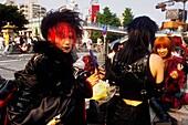 Harajuku bridge  Teenage dressed in a provocative way Tokyo city, Japan, Asia