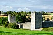 Kells Priory  Mediaeval walled monastic settlement on the Kings River in County Kilkenny, Ireland