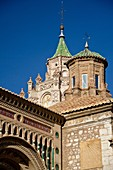 Teruel Cathedral views during the mediaeval love story celebrated every year since 1996 in Teruel is called the celebration of Las Bodas de Isabel de Segura  It is a festival declared of regional tourist attraction in February  Teruel, Aragon, Spain