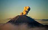 Active volcano in Java island, Indonesia