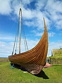 Replica Viking Ship Islendingur The Icelander, is a replica of the ancient Viking longships  The ship sailed the oceans to duplicate the voyage taken by Leif Ericson and his crew 1000 years ago  The Islendingur is now retired to a museum in Keflavik, Icel