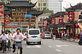 Afternoon shot of Yuyuan Market, a very famous shopping touristic center in Shanghai, China.