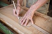 Carpenter's workshop in Bernau, Black Forest, Waldshut, Baden-Wuerttemberg, Germany