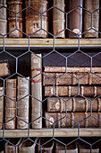historic books behind grid for protection, Wiblingen Monastry, Ulm at Danube River, Swabian Alb, Baden-Wuerttemberg, Germany