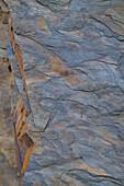 Detail of a shale stone wall in Kellerwald-Edersee National Park, Lake Edersee, Hesse, Germany, Europe