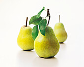 pears with leaves, Fruit, Food