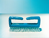 Blue nailbrush, handbrush, Cleaning, Beauty