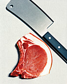 Pork chop and meat cleaver, Meat, Food