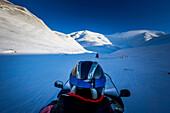 On Snowmobiles through Spitzbergen, Svalbard, Norway
