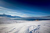 Snowy landscape at Spitzbergen, Spitzbergen, Svalbard, Norway