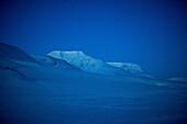 Snowy Spitzbergen at night, Spitzbergen, Svalbard, Norway