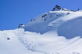 Downhill tracks in Valle di Stroppia, Valle Maira, Cottian Alps, Piedmont, Italy