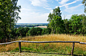 View from Gollenberg to Rhinow, Stoelln, Brandenburg, Germany
