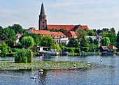 View over the Havel to the Island with Cathedral of St. Peter and Paul, Brandenburg an der Havel, Brandenburg, Germany