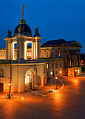 Old Market with Fortuna Portal at night, Potsdam City Palace, Potsdam, Brandenburg, Germany