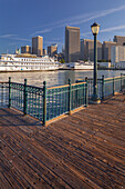 Pier 7, paddle steamer, Financial District, San Francisco, California, USA