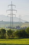 High voltage cables near Judenburg, Styria, Austria