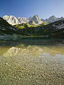 Seebensee, Vorderer Drachenkopf, Mieminger Mountains, Tyrol, Austria