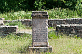 Roman altar stone near Wallduern, Baden-Wuerttemberg, Germany