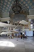 Aerospace museum at the former airport Spilve, replica of a Farman-4 from 1910, Daugau Grivas Iela 140, sport airfield Spilve, Riga, Latvia