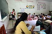 School in Vientiane, Laos, Asia