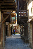 Lane with traditional houses in Galata-Kakopetria, Troodos mountains, Cyprus