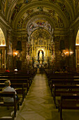 Statue of Virgin of Hope La Macarena in the baroque Church Basilica of Nuestra Senora de la Esperanza Macarena, Seville, Andalusia, Spain, Europe