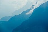 The foothills of the Glaernisch massif, Glarus Alps, canton of Glarus, Switzerland
