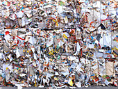 Paper recycling, Bavaria, Germany