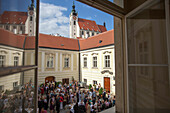 Wedding in the town of Krems, Wachau, Lower Austria, Austria