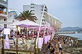 Beach Cafe, San Antonio, Eivissa, Ibiza, Balearic Islands, Spain