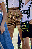 People wearing traditional clothes, Viehscheid, Allgau, Bavaria, Germany
